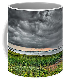 Rain Rolling In On The River Coffee Mug