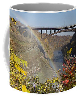 Coffee Mug featuring the photograph Rainbow At Lower Falls by William Norton