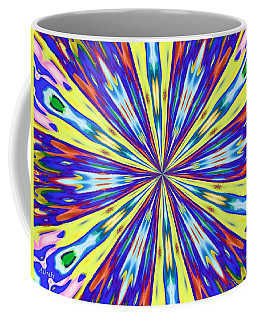 Coffee Mug featuring the digital art Rainbow In Space by Alec Drake