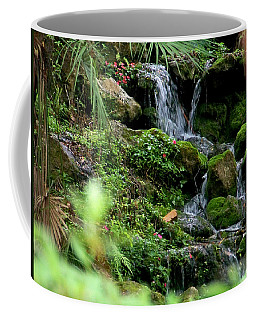 Rainbow Springs Waterfall Coffee Mug by Judy Wanamaker