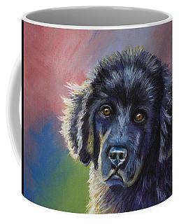 Rainbows And Sunshine - Newfoundland Puppy Coffee Mug