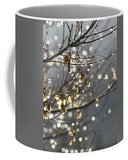 Raindrops And Leaves Coffee Mug by Katie Wing Vigil