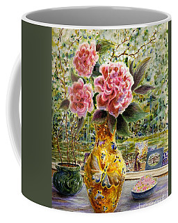 Coffee Mug featuring the painting Rainy Afternoon Joy by Dee Davis
