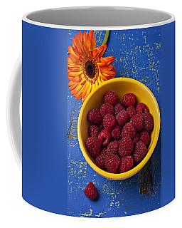 Raspberries In Yellow Bowl Coffee Mug