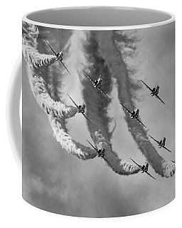 Red Arrows Black And White Coffee Mug