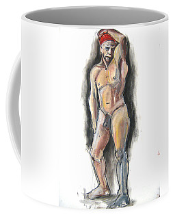 Coffee Mug featuring the pastel Red Bandana by Gabrielle Wilson-Sealy