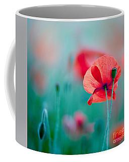 Red Corn Poppy Flowers 04 Coffee Mug