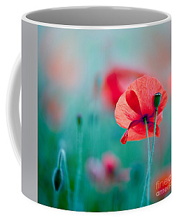 Red Corn Poppy Flowers 04 Coffee Mug