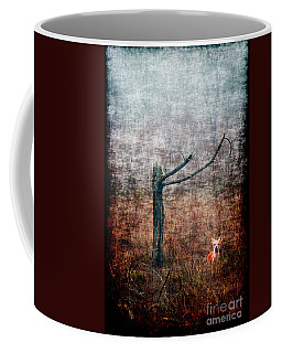 Coffee Mug featuring the photograph Red Fox Under Tree by Dan Friend