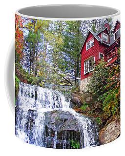 Red House By The Waterfall 2 Coffee Mug