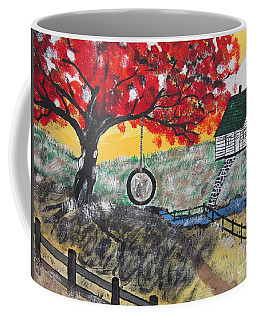 Coffee Mug featuring the painting Red Maple  Swing by Jeffrey Koss