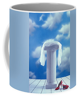 Red Shoes And Pedestal Coffee Mug