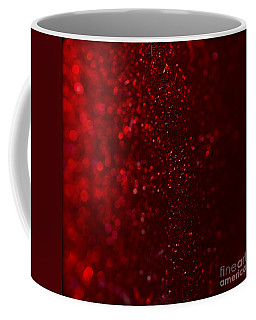Red Sparkle Coffee Mug by Clare Bambers