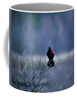 Coffee Mug featuring the photograph Red-wings Morning Call 10o by Gerry Gantt