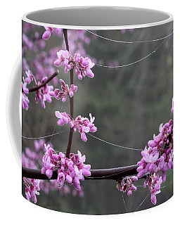Redbud With Webs And Dew Coffee Mug