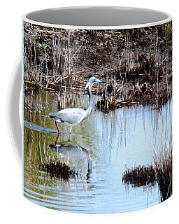 Reflections Of A Blue Heron Coffee Mug