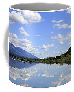 Coffee Mug featuring the photograph Reflections On Swan Lake by Nina Prommer