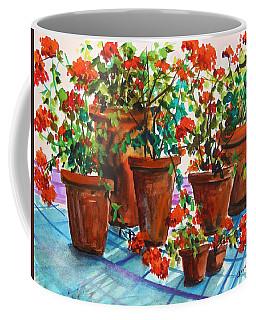 Repotted Geraniums By John Williams Coffee Mug