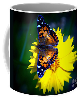 Resting Butterfly Coffee Mug by Kevin Fortier