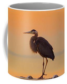 Resting Heron Coffee Mug