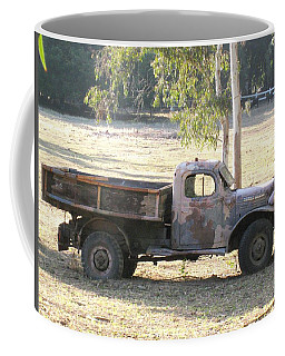Coffee Mug featuring the photograph Retired Power Wagon by Sue Halstenberg