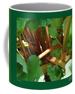 Rhubarb-i Coffee Mug by Patricia Overmoyer