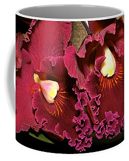 Rich Burgundy Orchids Coffee Mug