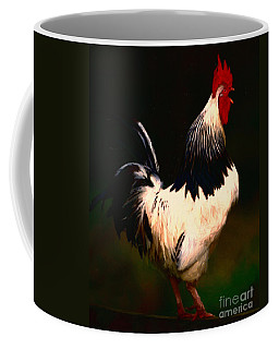 Rise And Shine Early Morning Rooster - Painterly Coffee Mug