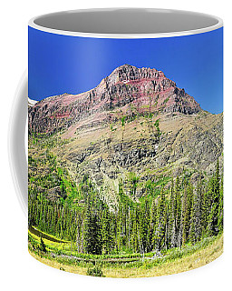 Coffee Mug featuring the photograph Rising Wolf Mountain by Greg Norrell