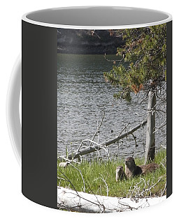 Coffee Mug featuring the photograph River Otter by Belinda Greb