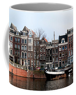 Coffee Mug featuring the digital art River Scenes From Amsterdam by Carol Ailles