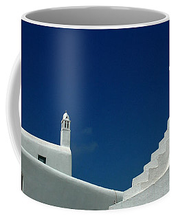 Coffee Mug featuring the photograph Rooftops Of Mykonos by Vivian Christopher