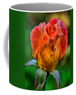 Coffee Mug featuring the painting Rose by Lynne Jenkins