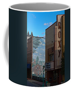 Roxy Theater And Mural Coffee Mug