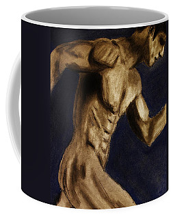 Running Man Coffee Mug by Michael Cross