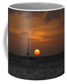 Coffee Mug featuring the photograph Sailing Away by David Gleeson