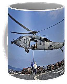 Sailors Attach A Cargo Pennant Coffee Mug