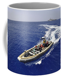 Sailors Transit An Inflatable Boat Coffee Mug