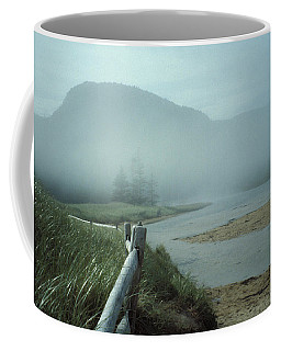 Sand Beach Fog Coffee Mug