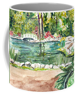 Coffee Mug featuring the painting Sayen Pond by Clara Sue Beym
