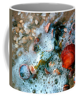 Coffee Mug featuring the photograph Scallop And Seaweed 11c by Gerry Gantt