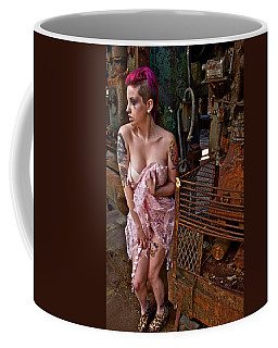 Coffee Mug featuring the photograph Scared by Alice Gipson