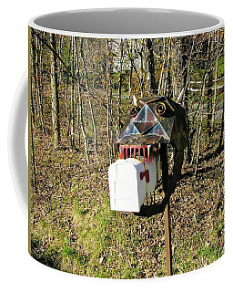 Coffee Mug featuring the photograph Scary Mailbox 3 by Sherman Perry
