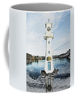 Coffee Mug featuring the photograph Scott Memorial Roath Park Cardiff 3 by Steve Purnell