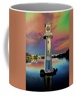 Coffee Mug featuring the photograph Scott Memorial Roath Park Cardiff 4 by Steve Purnell