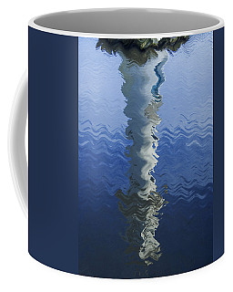 Coffee Mug featuring the photograph Scott Memorial Roath Park Cardiff Reflections by Steve Purnell