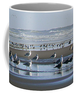Sea Gulls And Breakers Coffee Mug