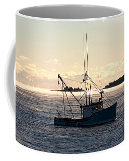 Sea-smoke On The Harbor Coffee Mug by Brent L Ander