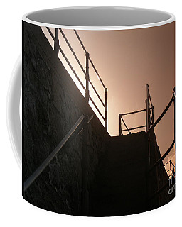 Coffee Mug featuring the photograph Seaside Railings by Terri Waters