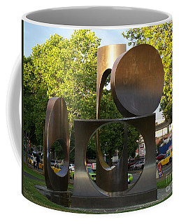 Coffee Mug featuring the photograph Seattle Sculpture by Chalet Roome-Rigdon